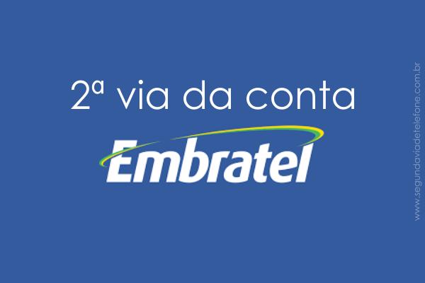 2 via Embratel 2018 - emitir fatura